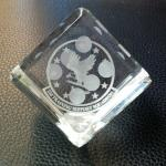 "2"" Crystal Dice with a space for engraving on one side.  Also comes in a blue velvet presentation box."